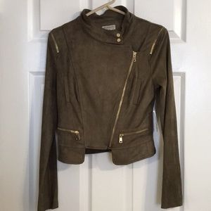 Jackets & Blazers - Necessary clothing olive suede jacket